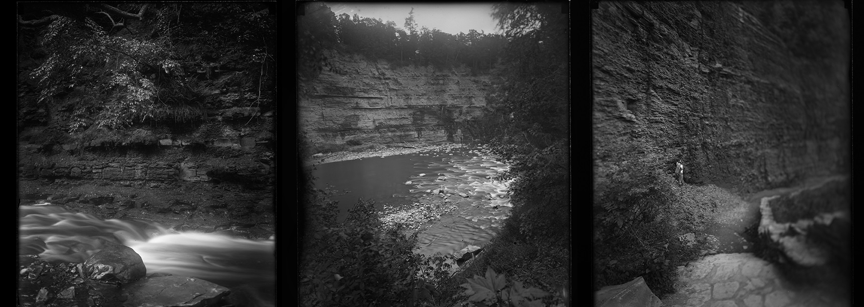 Dry plate photography at Letchworth State Park