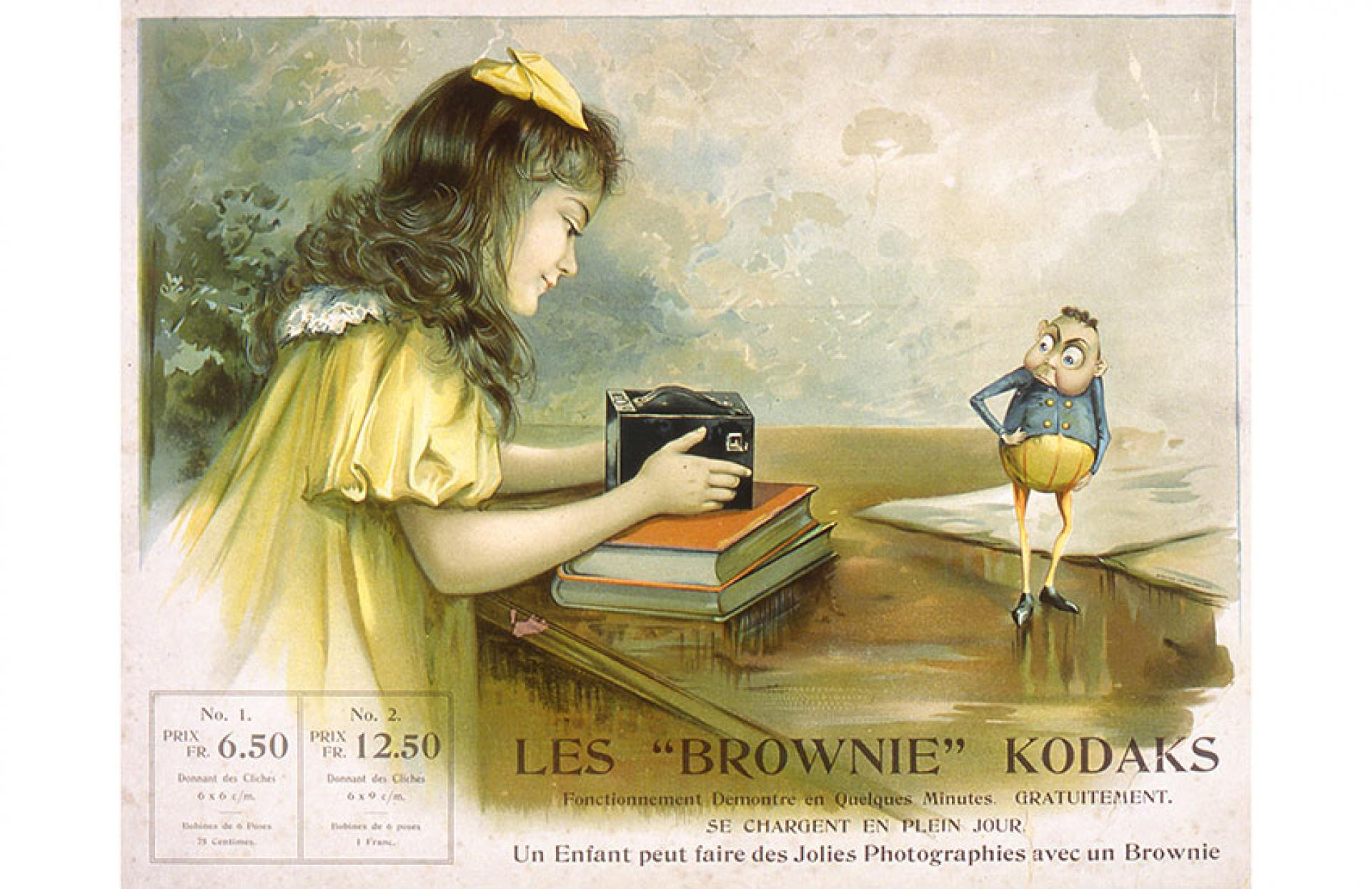 Ad showing the Brownie Camera