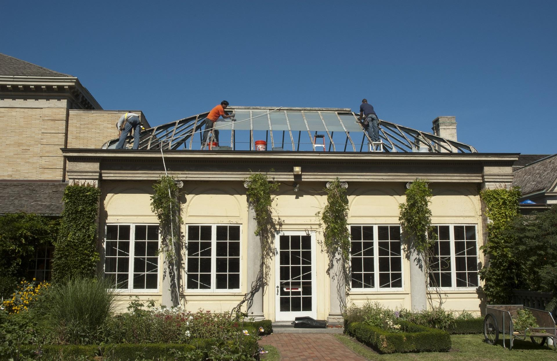 Restoration of the Palm House, 2012.