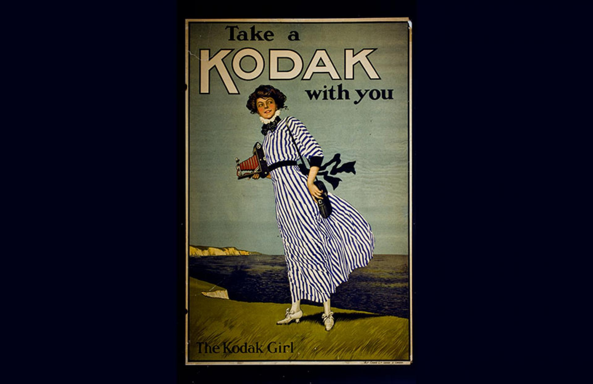 Kodak ad featuring the Kodak Girl