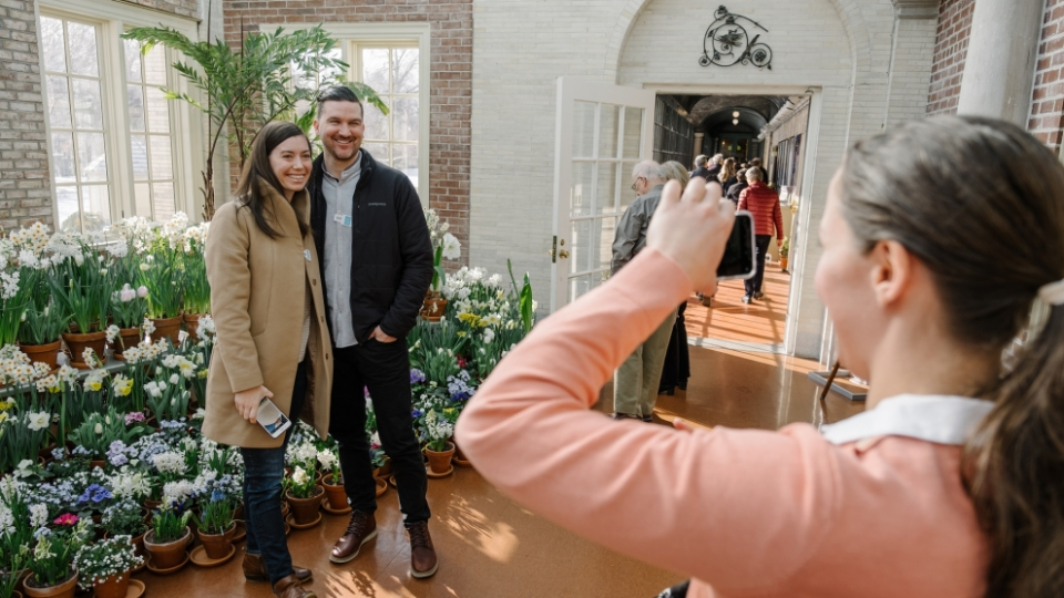 Photo of Dutch Connection, flowers on view throughout historic mansion