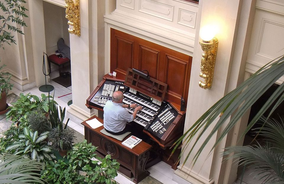 Joe Blackburn plays the organ