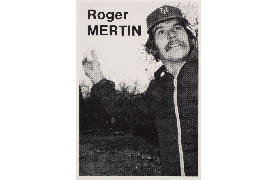 Baseball Trading Card of Roger Mertin