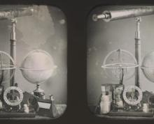 Photograph of astrological equipment by Louis Jules Duboscq