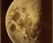 Photograph of the moon by Lewis M. Rutherfurd