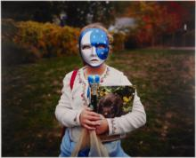 Photograph of a girl dressed as the moon by Melissa Ann Pinney