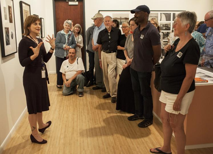 Curator in charge Lisa Hostetler leads a gallery tour