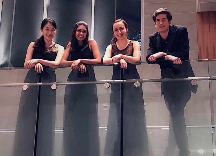 Asha String Quartet dressed for performance