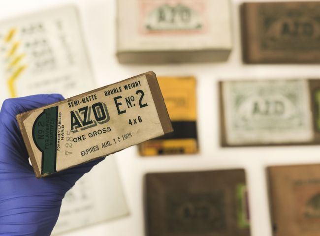 Samples of AZO boxes and paper